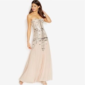 City Studio Art Deco Flapper Prom Dress